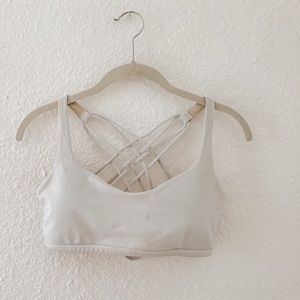 lululemon athletica Intimates & Sleepwear - White Free To Be Bra and lululemon bag!